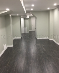 Open concept basement finishing