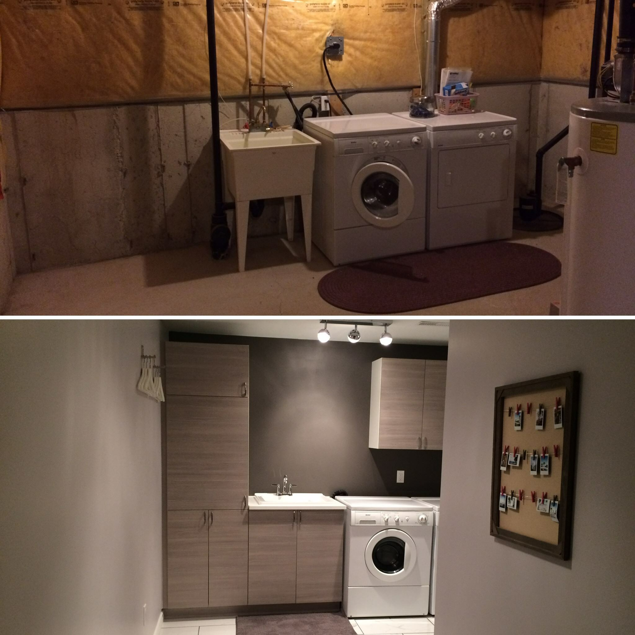 Finished Basement With Laundry Centre