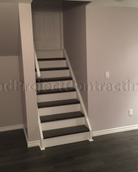 2 Tone Stairs in Basement