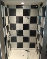 Checkered Tiles in Bathroom