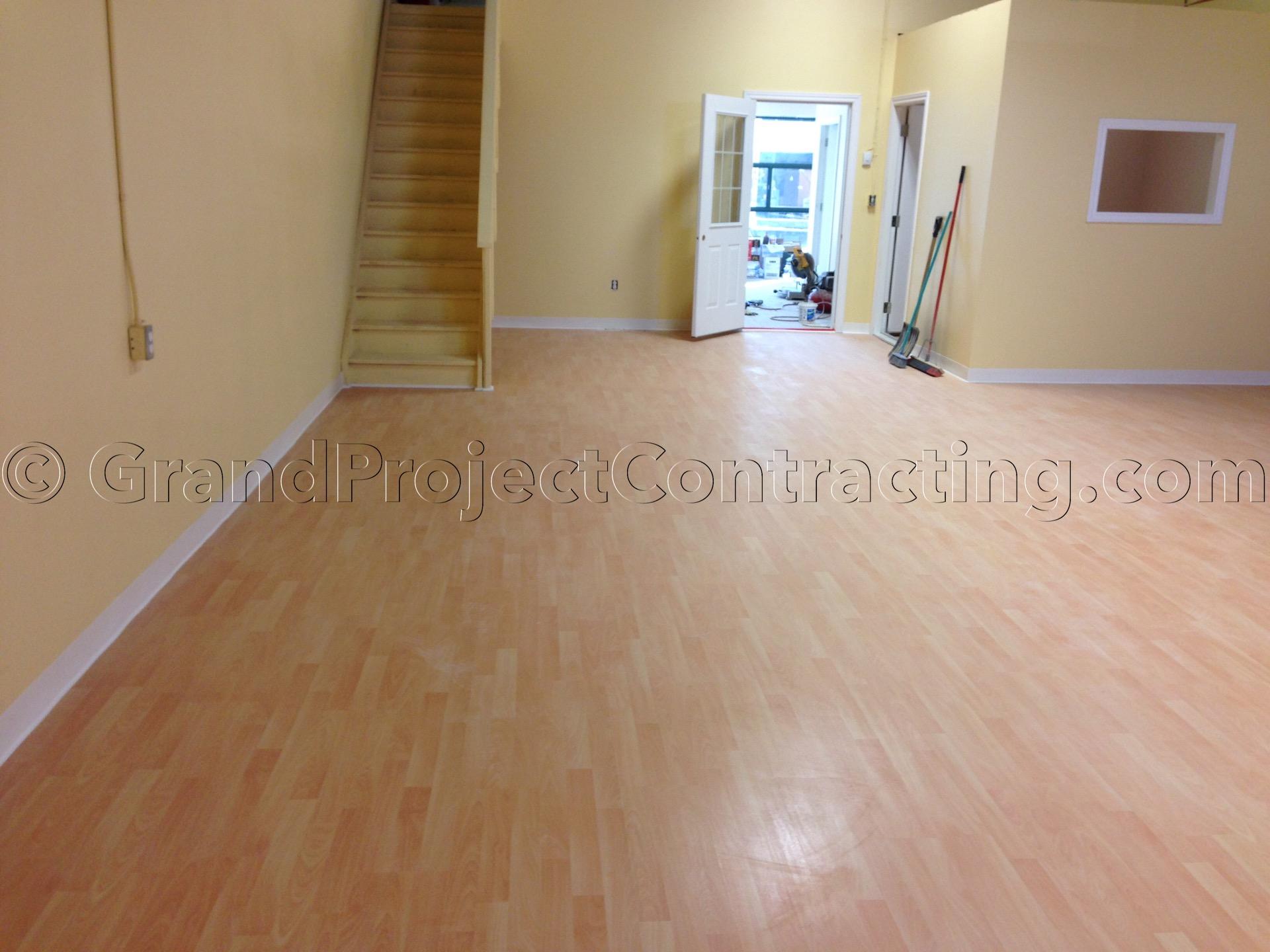 Commercial Laminate Floor Installation