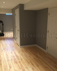 Basement renovation Milton