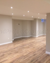 Open concept basement renovation in Mississauga