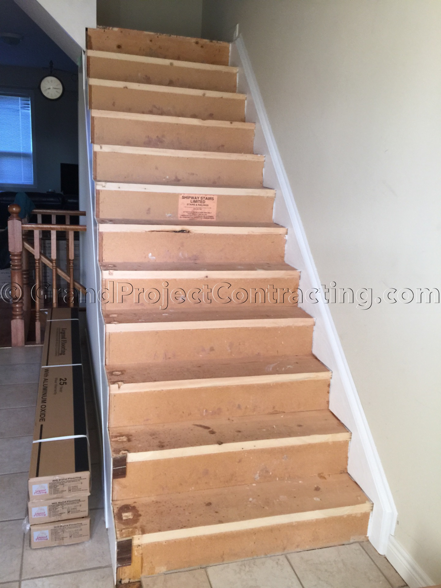 Wood Stairs And Hardwood