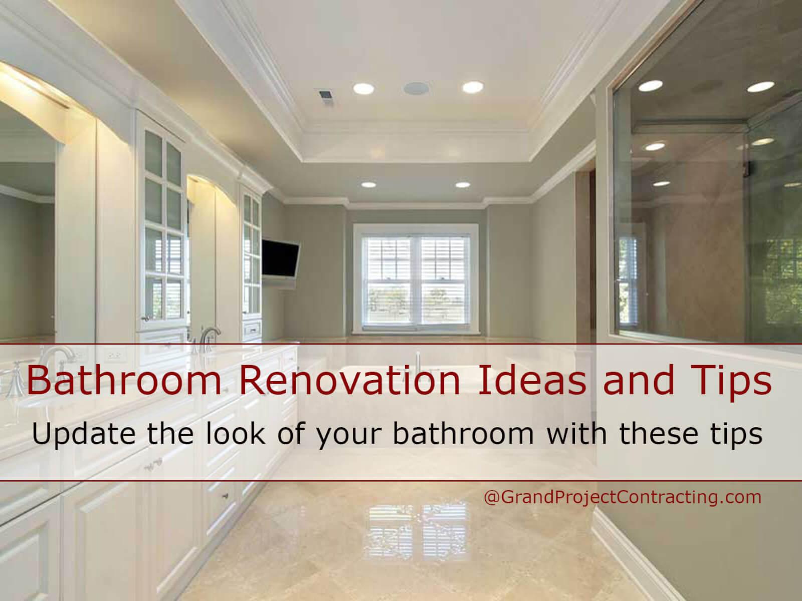 Bathroom renovation ideas and tips bathroom makeover for Bathroom refurbishment ideas