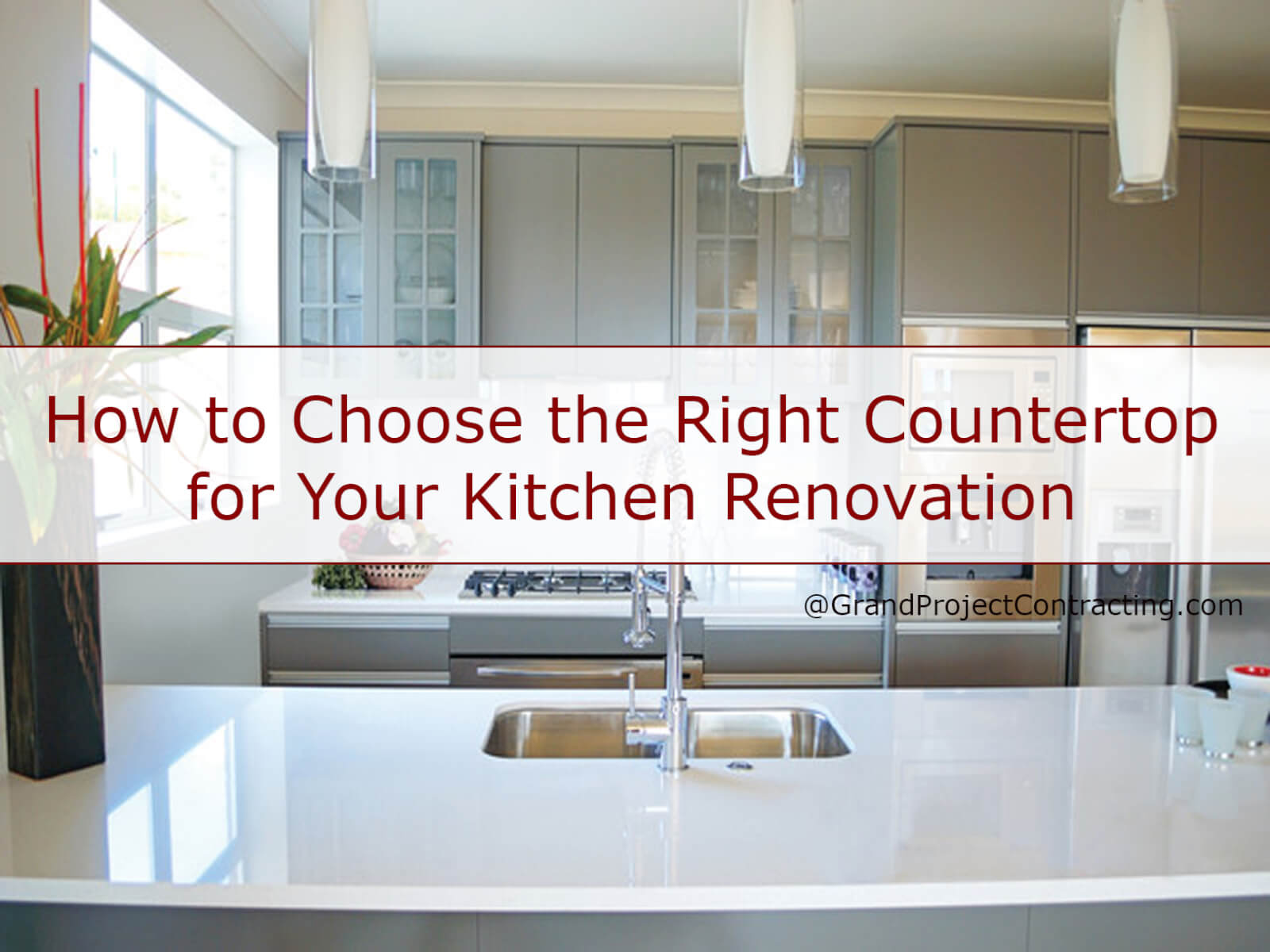 How to choose the right countertop for your kitchen renovation